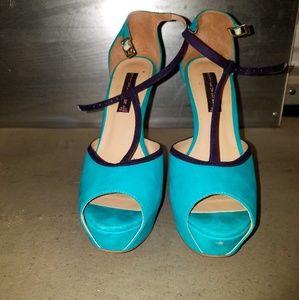 Teal stiletto heels